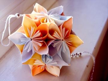 cadeau, modular origami kusudama