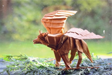origami hippogriff, designed by Manuel Sirgo