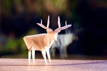 patronus, origami stag, designed by Jun Maekawa