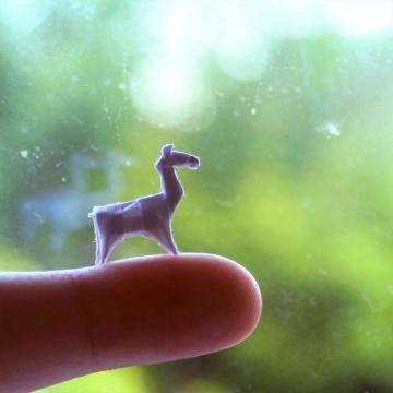 lama glama, dollar bill origami, miniature llama, designed by John Montroll