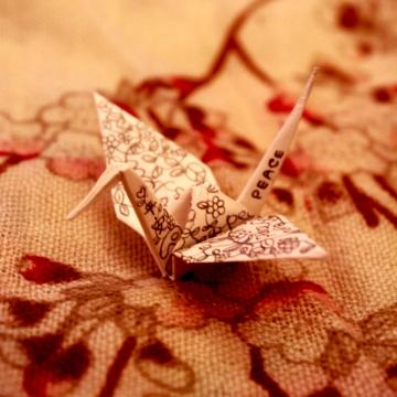 millieme, origami paper crane, traditional design