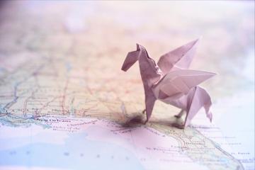 pegasus, origami winged horse, designed by John Montroll