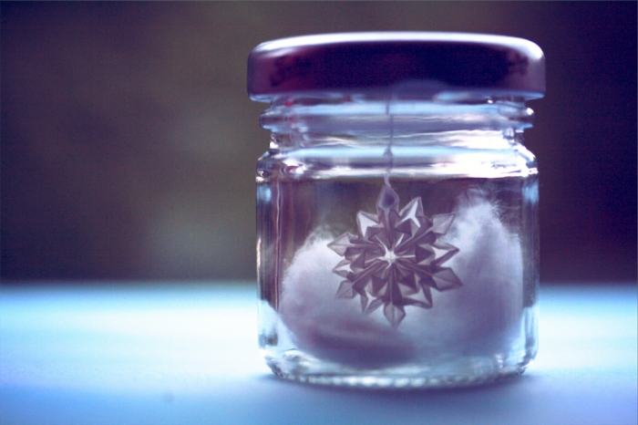 snowflake in a jar
