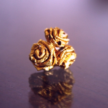 trio, gold ferrero rocher miniature origami roses or quilled roses