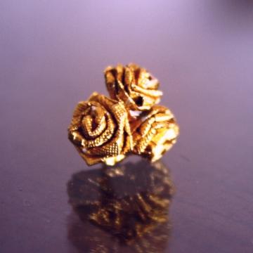 trio, gold ferrero rocher miniature origami roses or quilled roses