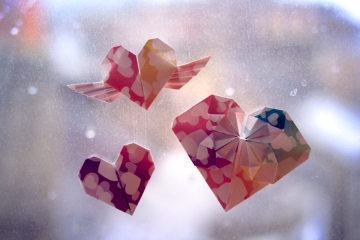 soprapaev, origami hearts, various designs