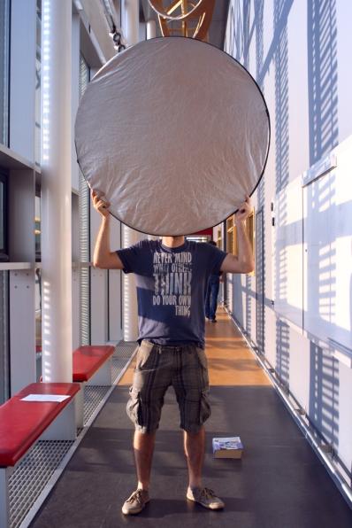 DNA Origami film shoot - reflector head