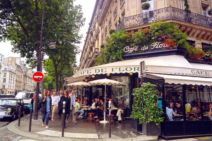 cafe de flore in st-germain-des-pres, paris