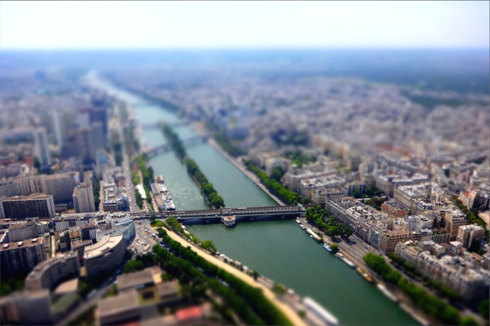 the river seine viewed from above, paris