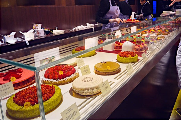 cakes, desserts and patisserie at Pierre Herme, Paris