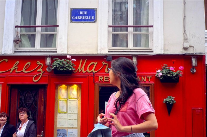 rue Gabrielle in Montmartre, Paris