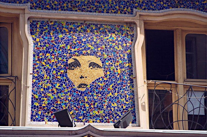 mosaic woman, rive gauche (left bank), Paris