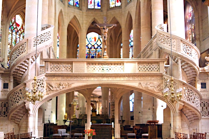 interior of church of st-etienne-du-mont, paris