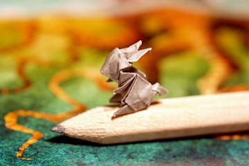 52 weeks of tinygami, miniature origami rabbit