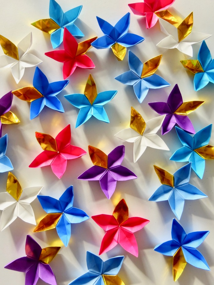 origami star flowers
